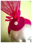Bright Pink Fascinator/Headband (detail)