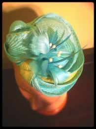 Light Aqua Straw Hat (detail)