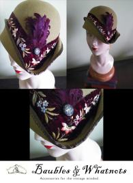 Custom Hat with Antique Ribbon