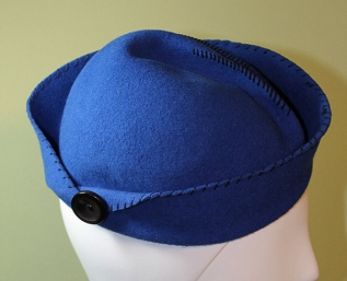 Royal Blue Women's Wool Hand-Stitched Sailor Hat